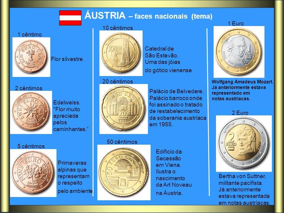 ÁUSTRIA – faces nacionais (tema) Flor silvestre. Edelweiss.