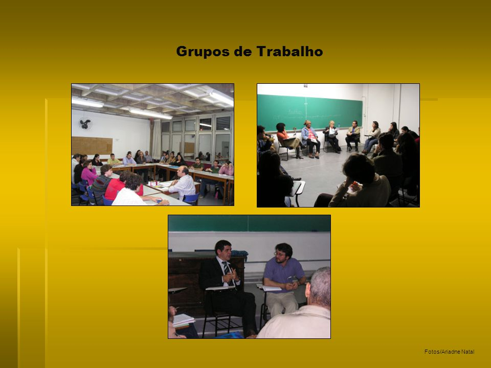 Grupos de Trabalho Fotos/Ariadne Natal