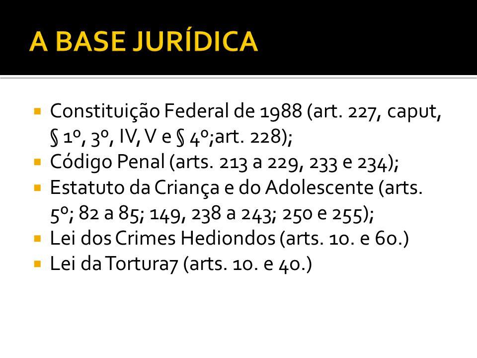 Constituição Federal de 1988 (art.227, caput, § 1º, 3º, IV, V e § 4º;art.