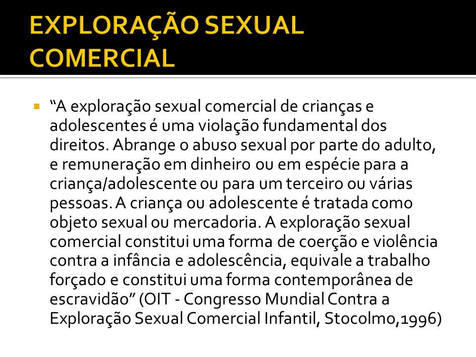 A exploração sexual comercial de crianças e adolescentes é uma violação fundamental dos direitos.