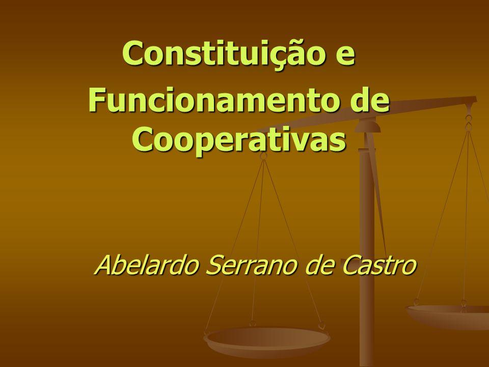 Constituição e Funcionamento de Cooperativas Abelardo Serrano de Castro