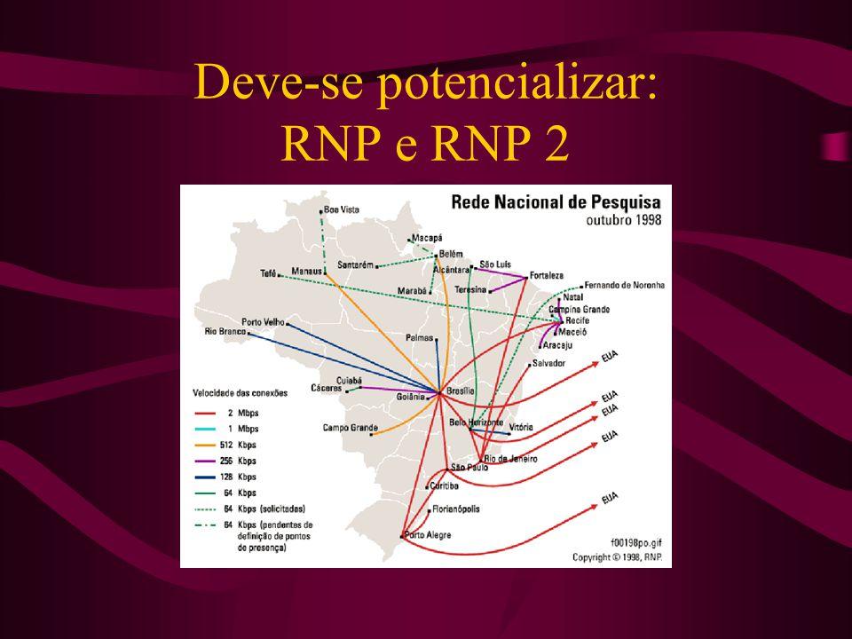 Deve-se potencializar: RNP e RNP 2