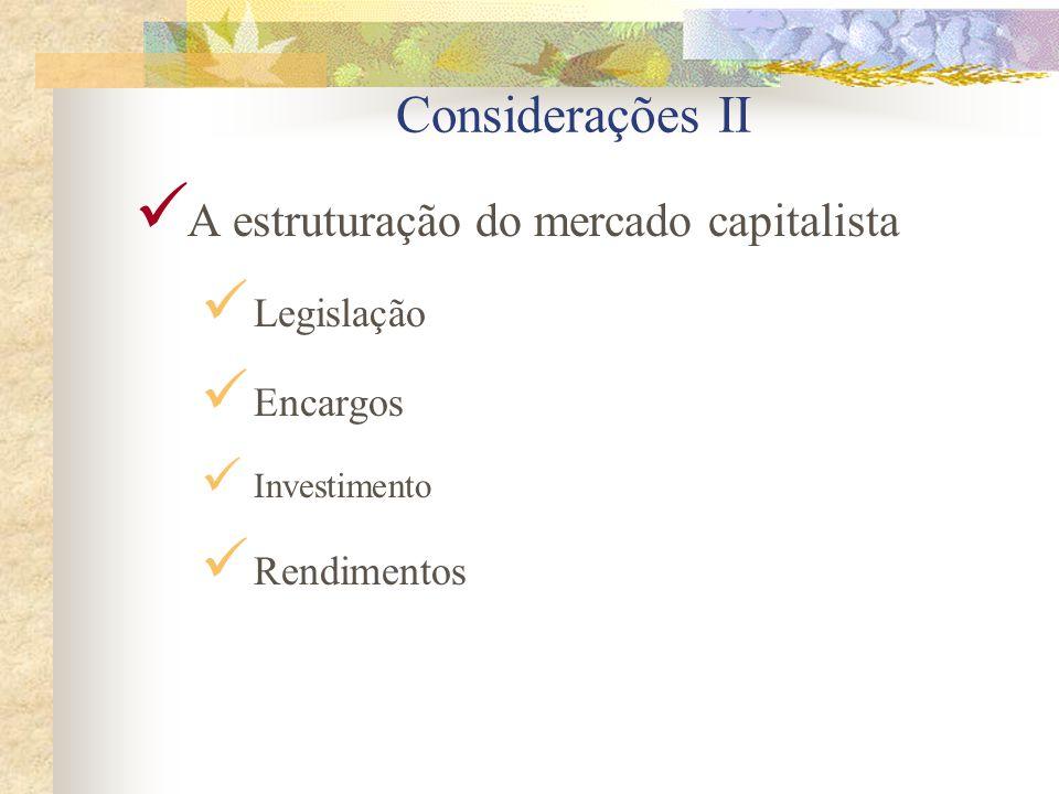 Considerações I A eficiência da educação capitalista Individualismo Ambição Astúcia Desinformação