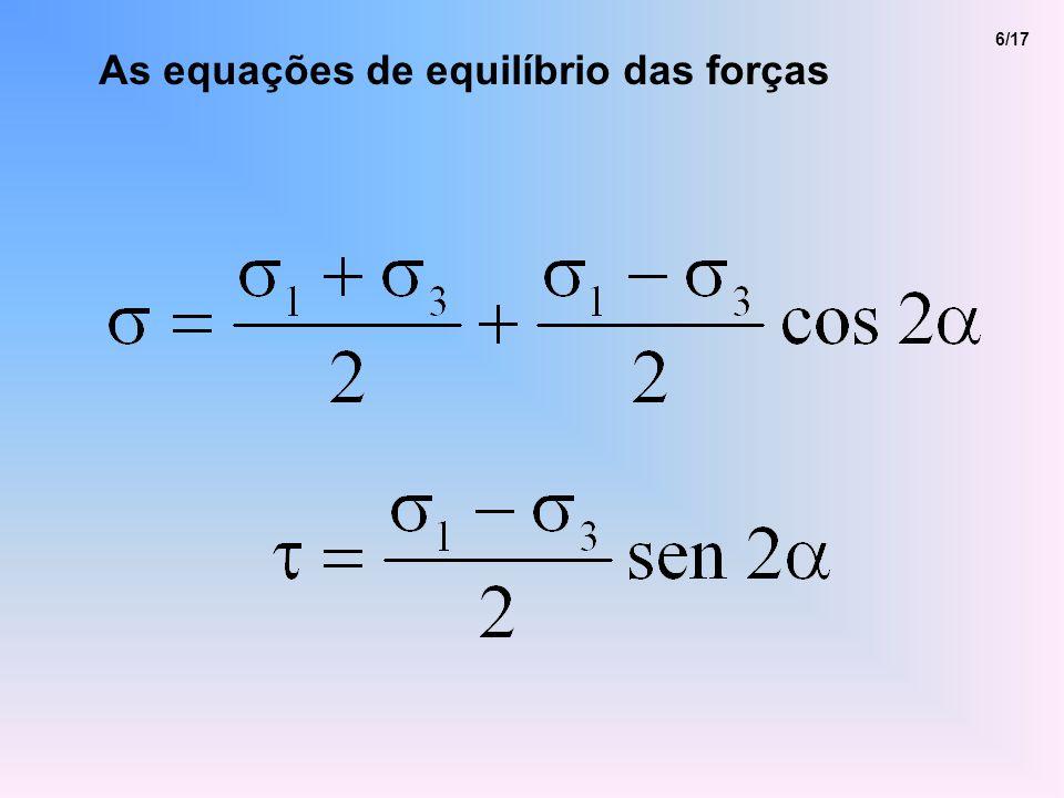 6/17 As equações de equilíbrio das forças