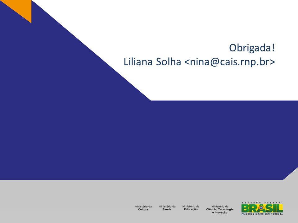 Obrigada! Liliana Solha