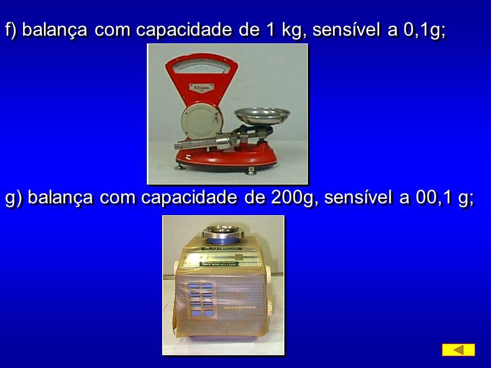 d) proveta de vidro, de cerca de 45 cm de altura e 6,5 cm de diâmetro, com traço indicando 1000 ml a 20 0 C; e) estufa capaz de manter a temperatura e