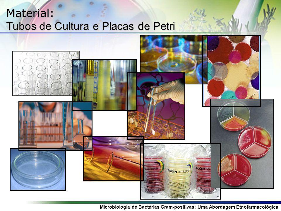 Microbiologia de Bactérias Gram-positivas: Uma Abordagem Etnofarmacológica Material: Tubos de Cultura e Placas de Petri