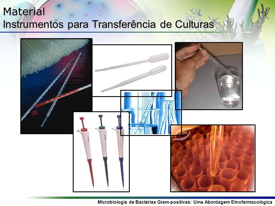 Microbiologia de Bactérias Gram-positivas: Uma Abordagem Etnofarmacológica Material Instrumentos para Transferência de Culturas