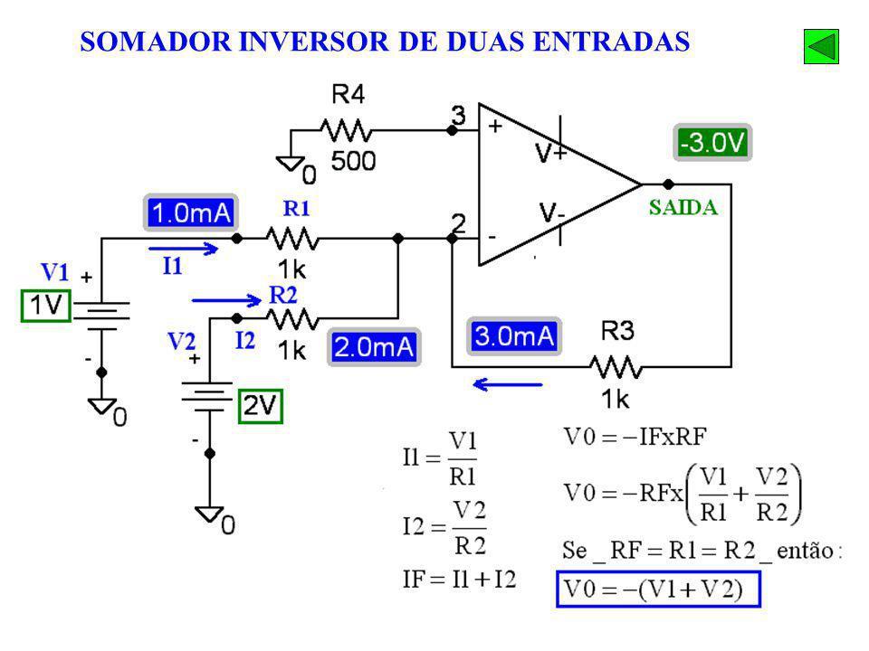 SOMADOR INVERSOR DE DUAS ENTRADAS