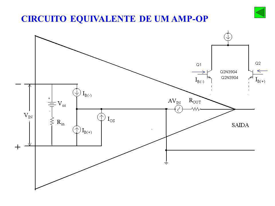 CIRCUITO EQUIVALENTE DE UM AMP-OP