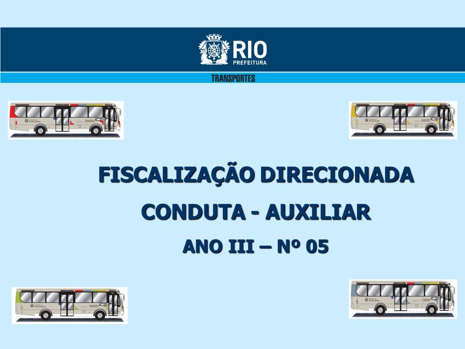 FISCALIZAÇÃO DIRECIONADA CONDUTA - AUXILIAR ANO III – Nº 05