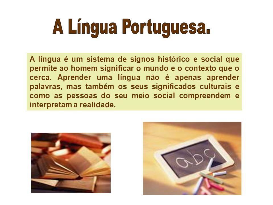 A língua é um sistema de signos histórico e social que permite ao homem significar o mundo e o contexto que o cerca.