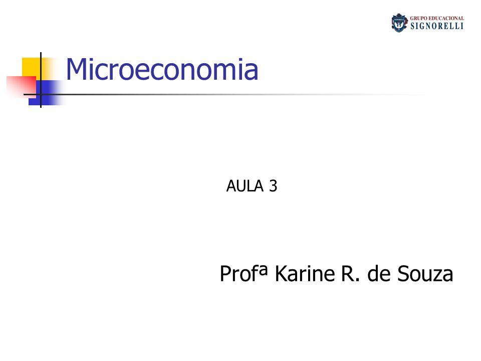 Microeconomia Profª Karine R. de Souza AULA 3