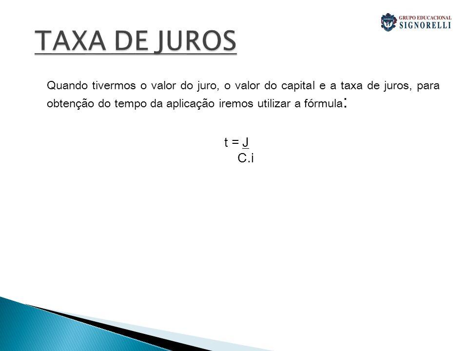 Exercicios 1: Um capital de R$2.400,00 é aplicado durante 10 meses, à taxa de 30% ao ano.