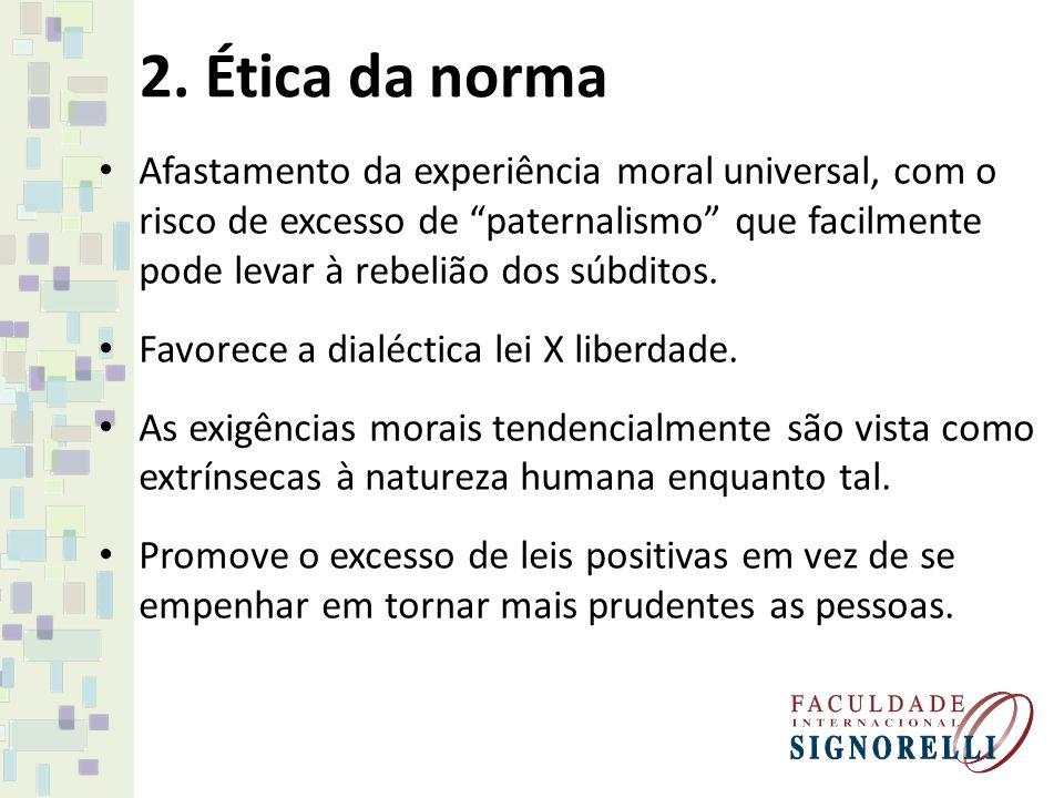 5.Ética utilitarista Ênfase em produzir um bom status.