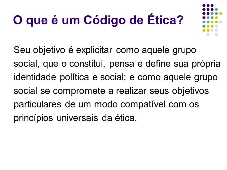 Seu objetivo é explicitar como aquele grupo social, que o constitui, pensa e define sua própria identidade política e social; e como aquele grupo soci