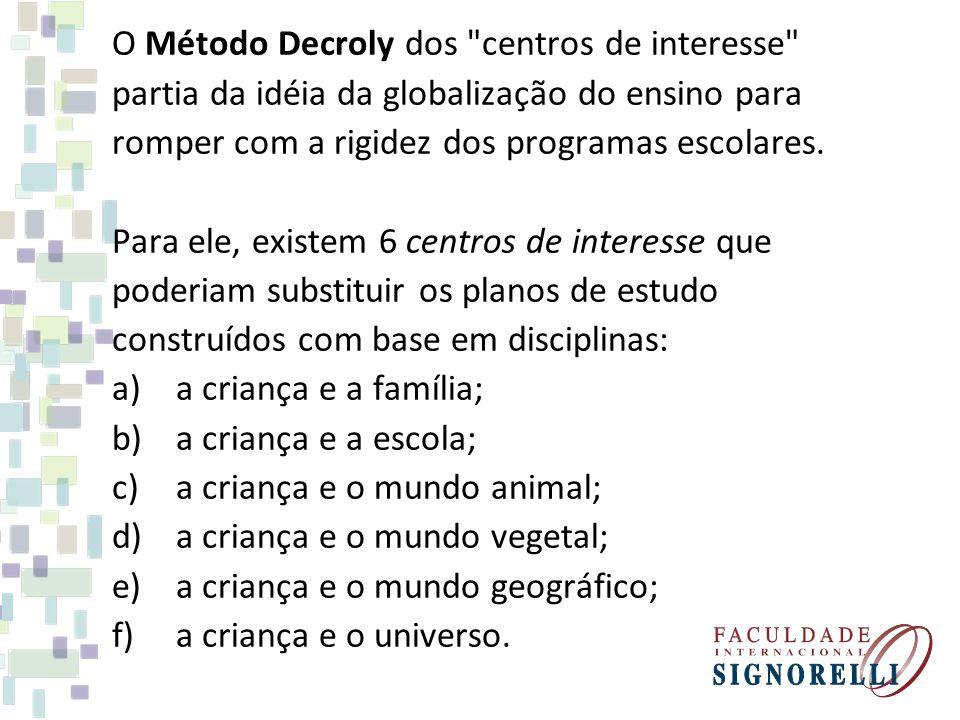 O Método Decroly dos