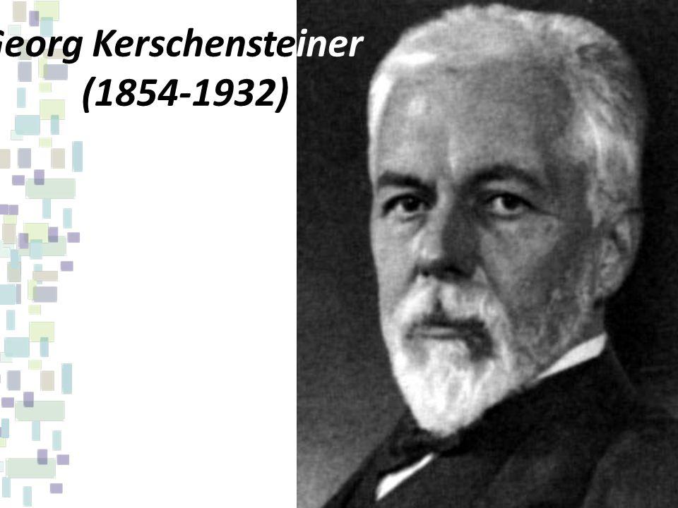 O professor alemão propõe a escola do trabalho educativo em oposição à escola intelectualista e memorista.