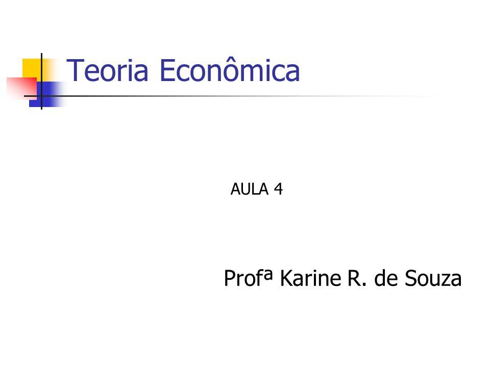 Teoria Econômica Profª Karine R. de Souza AULA 4