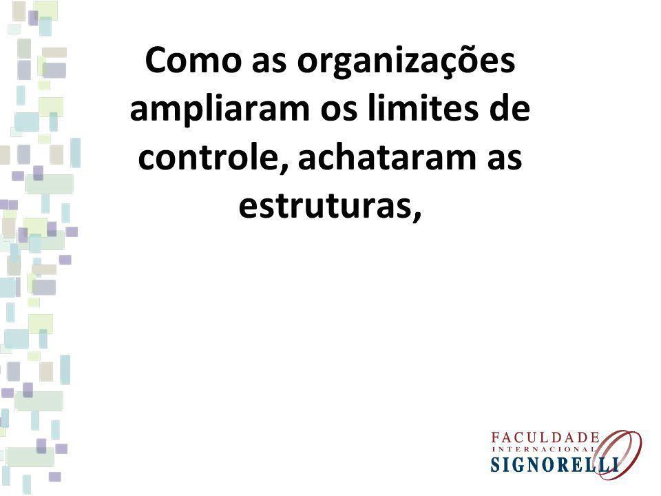Como as organizações ampliaram os limites de controle, achataram as estruturas,