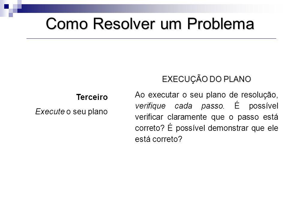 Estratégias de resolução de problemas 1.Tentativa e erro 2.