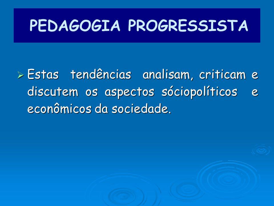 Estas tendências analisam, criticam e discutem os aspectos sóciopolíticos e econômicos da sociedade.