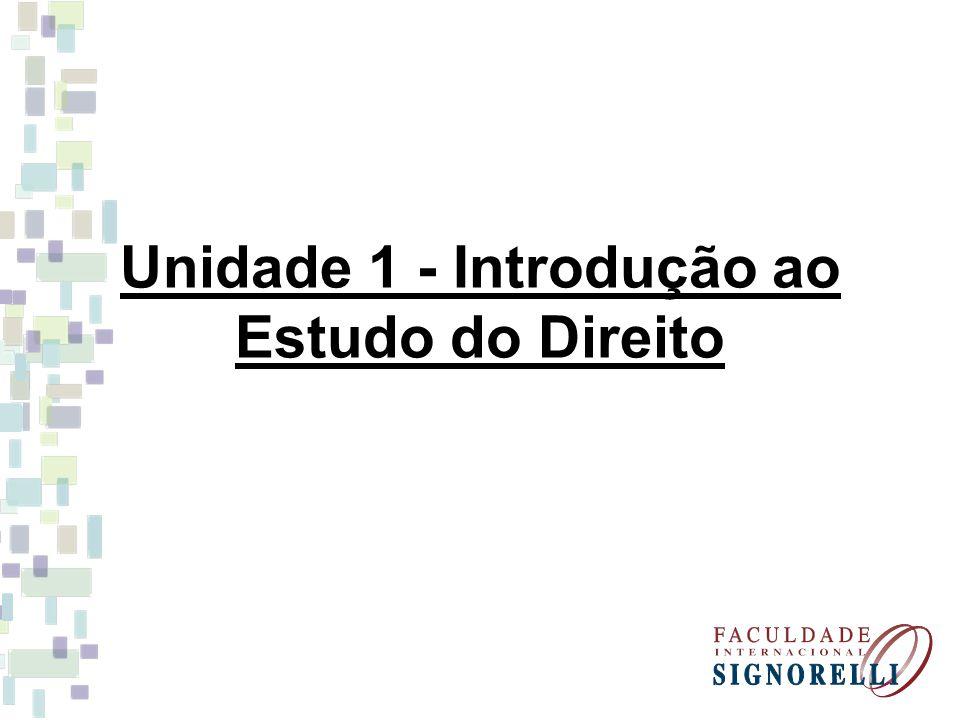 Unidade 1 - Introdução ao Estudo do Direito