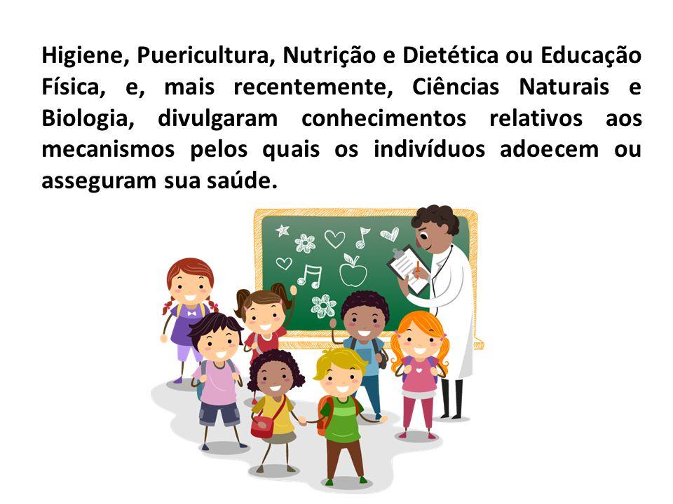 Higiene, Puericultura, Nutrição e Dietética ou Educação Física, e, mais recentemente, Ciências Naturais e Biologia, divulgaram conhecimentos relativos