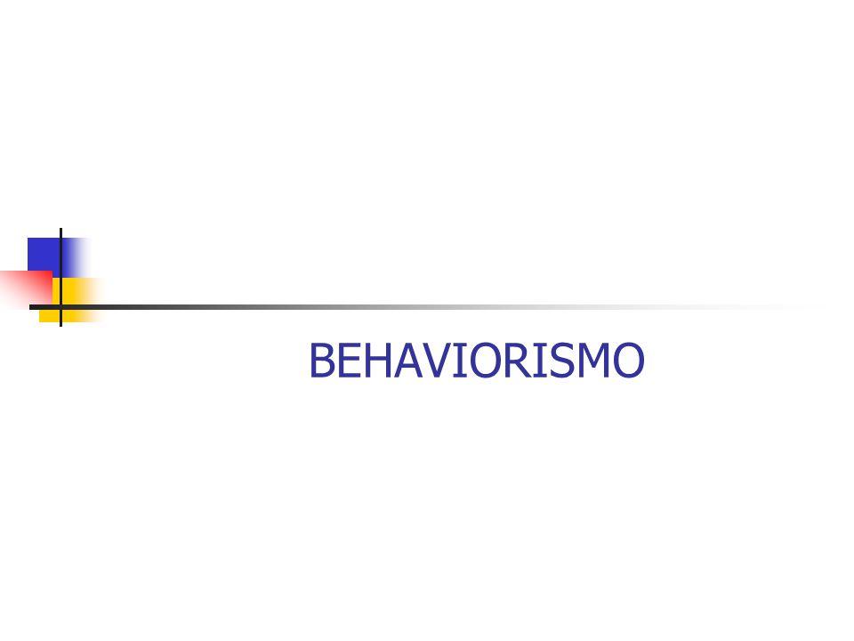 Com o surgimento do behaviorismo, a psicologia alcança o status de ciência, pois o comportamento como objeto de estudo proporciona: um objeto mensurável, observável, que podia ser reproduzido em diferentes condições e em diferentes sujeitos.
