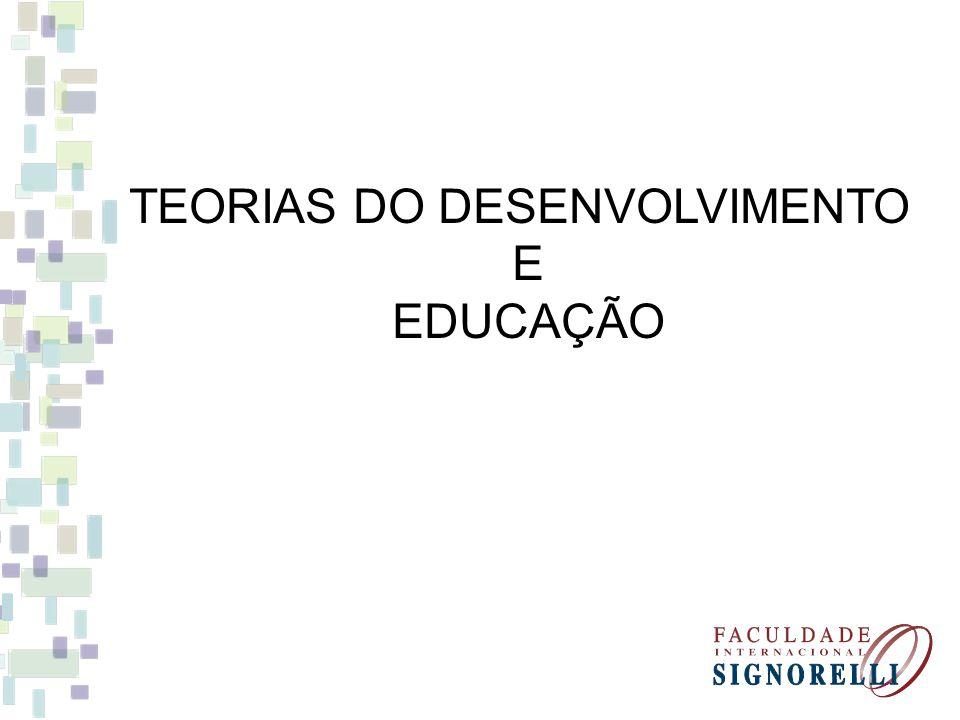 TEORIAS DO DESENVOLVIMENTO E EDUCAÇÃO
