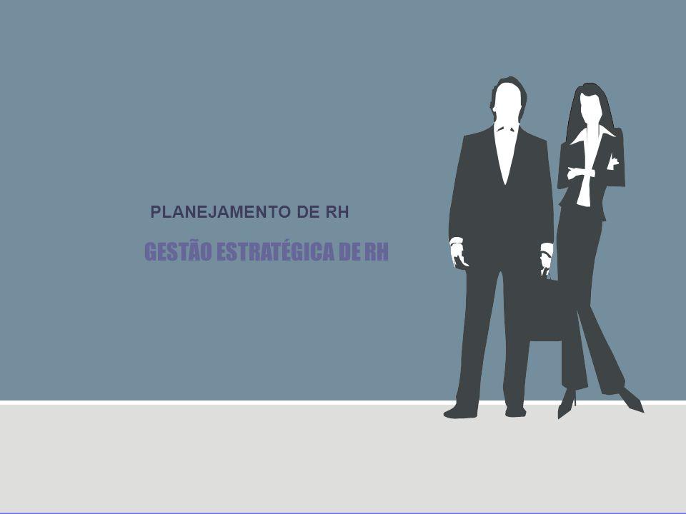 FUSÃO ENTRE O PLANEJAMENTO ESTRATÉGICO E O DE RH Planejamento adaptativo Planejamento integrado Planejamento autônomo e isolado O foco se concentra no Planejamento empresarial Sendo as práticas de RH consideradas como uma reflexão posterior As discussões cabem aos gerentes de linha com envolvimento tangencial de profissionais de RH O resultado é uma síntese das práticas de RH necessárias para a realização dos planos empresariais.