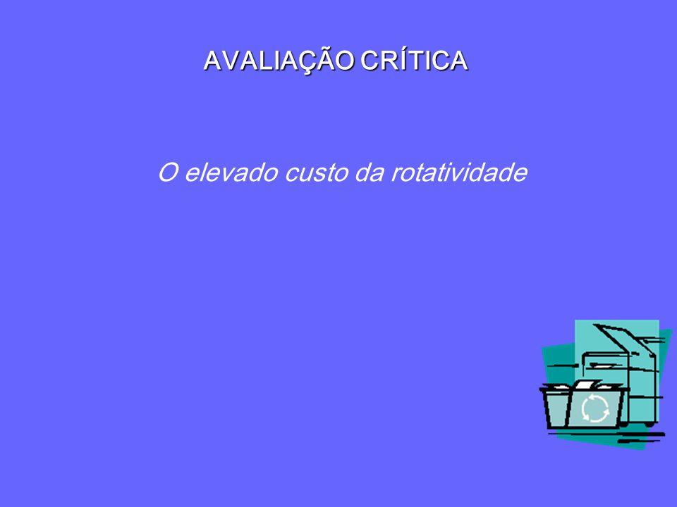 AVALIAÇÃO CRÍTICA O elevado custo da rotatividade