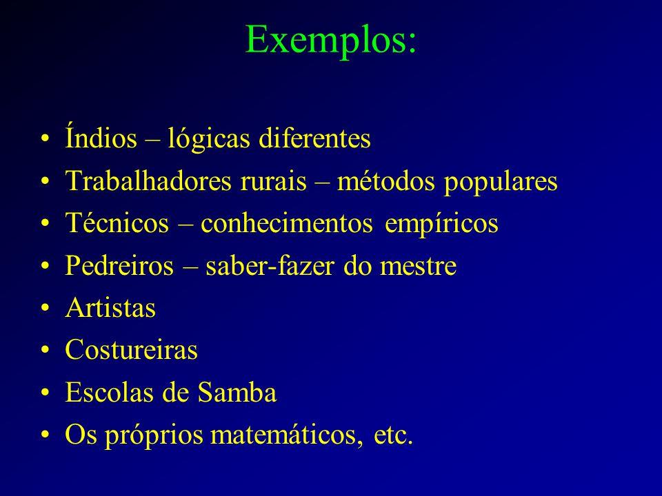 Exemplos: Bola de Gude: Já as crianças jogando bolinha de gude estão em um ambiente que pede outra matemática específica.