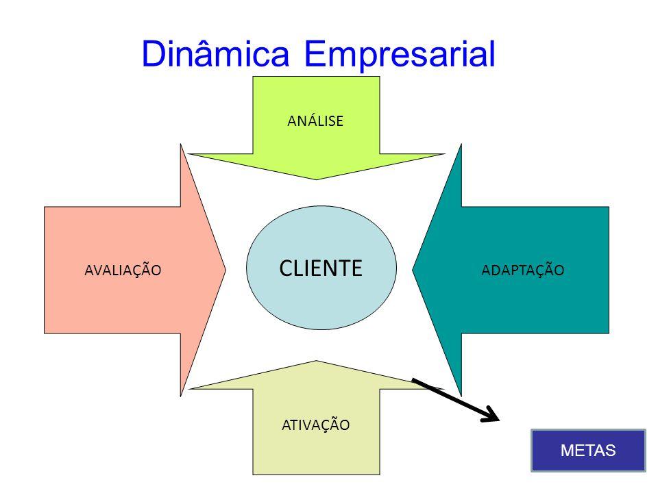 Dinâmica Empresarial CLIENTE AVALIAÇÃO ANÁLISE ATIVAÇÃO ADAPTAÇÃO METAS