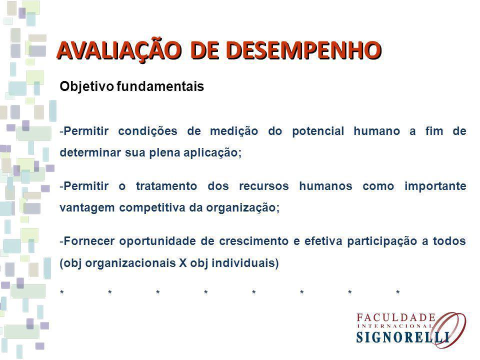 Objetivo fundamentais -Permitir condições de medição do potencial humano a fim de determinar sua plena aplicação; -Permitir o tratamento dos recursos