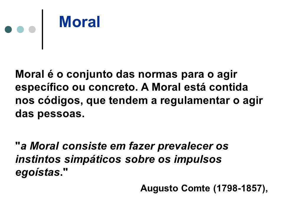 Moral Moral é o conjunto das normas para o agir específico ou concreto.
