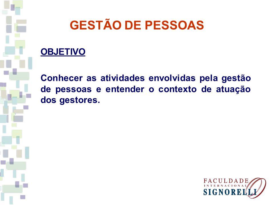 GESTÃO DE PESSOAS ROTEIRO I – Conteúdo Programático II – Bibliografia III – Avaliação IV – Diversos