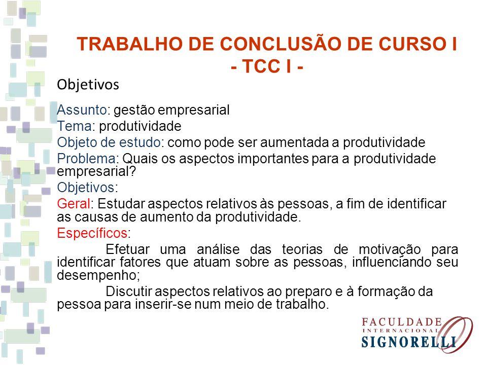 Objetivos Assunto: gestão empresarial Tema: produtividade Objeto de estudo: como pode ser aumentada a produtividade Problema: Quais os aspectos importantes para a produtividade empresarial.