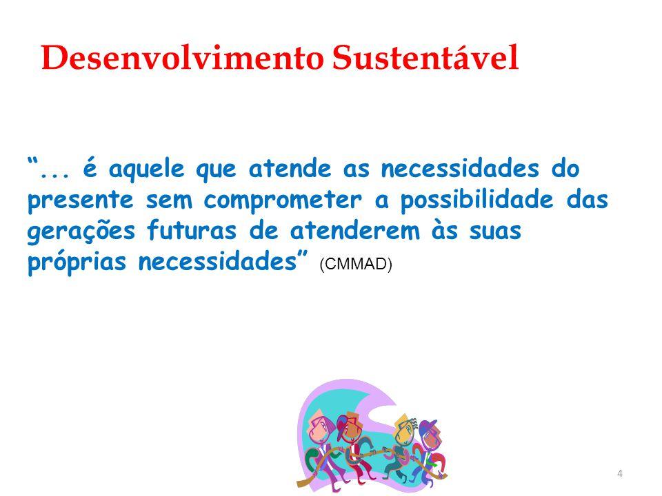 4... é aquele que atende as necessidades do presente sem comprometer a possibilidade das gerações futuras de atenderem às suas próprias necessidades (