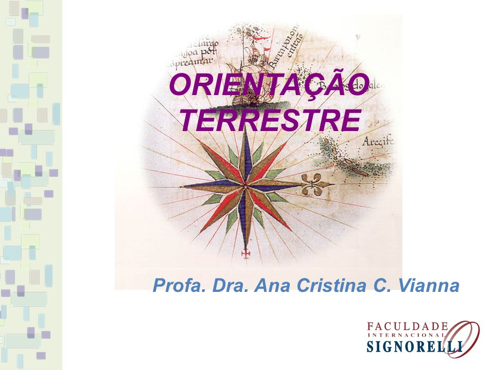 ORIENTAÇÃO TERRESTRE Profa. Dra. Ana Cristina C. Vianna