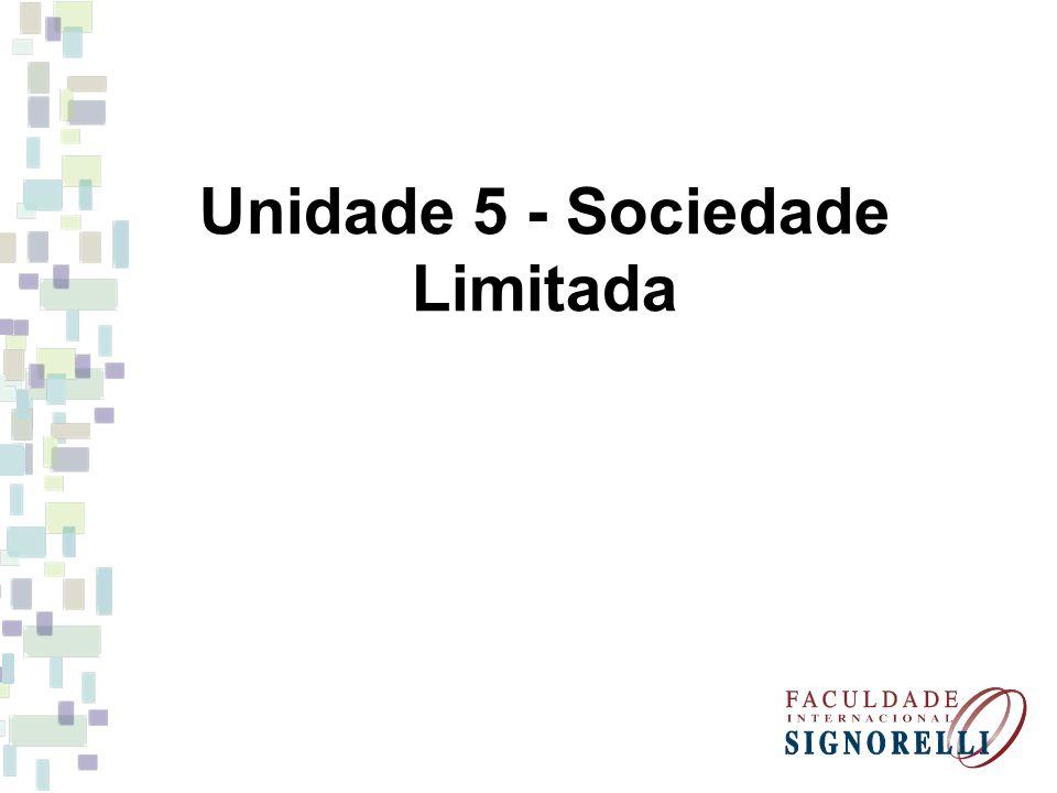 Unidade 5 - Sociedade Limitada