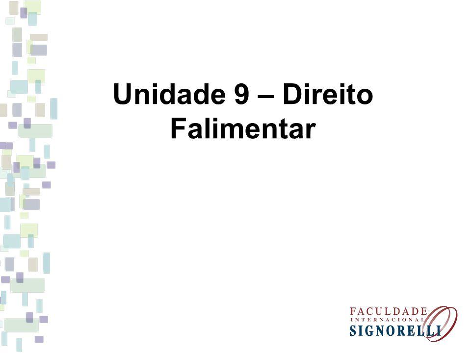 Unidade 9 – Direito Falimentar