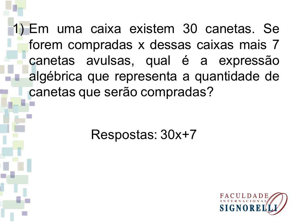 2) Uma quantidade x de bolinhas foi colocada no interior de uma caixa.