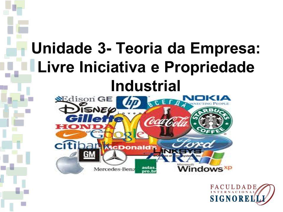 Unidade 3- Teoria da Empresa: Livre Iniciativa e Propriedade Industrial