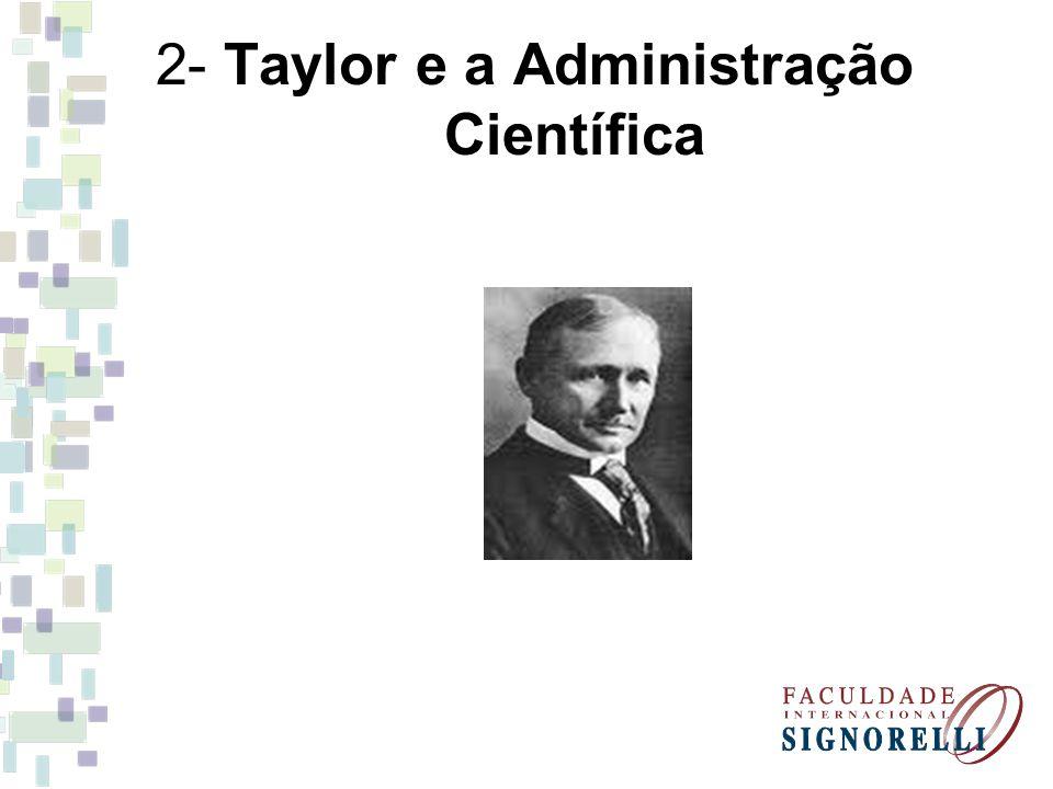 2- Taylor e a Administração Científica