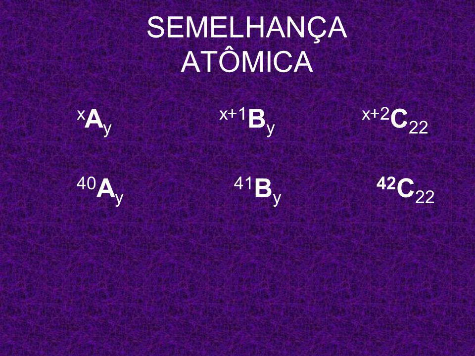x A y x+1 B y x+2 C 22 SEMELHANÇA ATÔMICA 40 A y 41 B y x+2 C 22