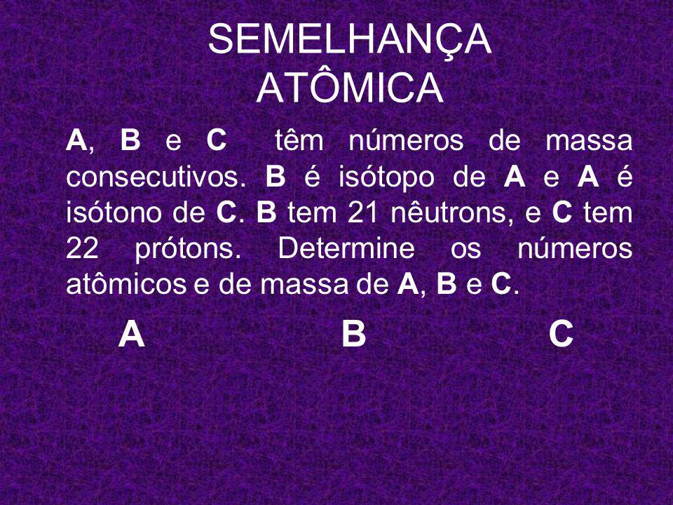 x A y x+1 B y x+2 C 22 SEMELHANÇA ATÔMICA 40 A y 41 B y 42 C 22