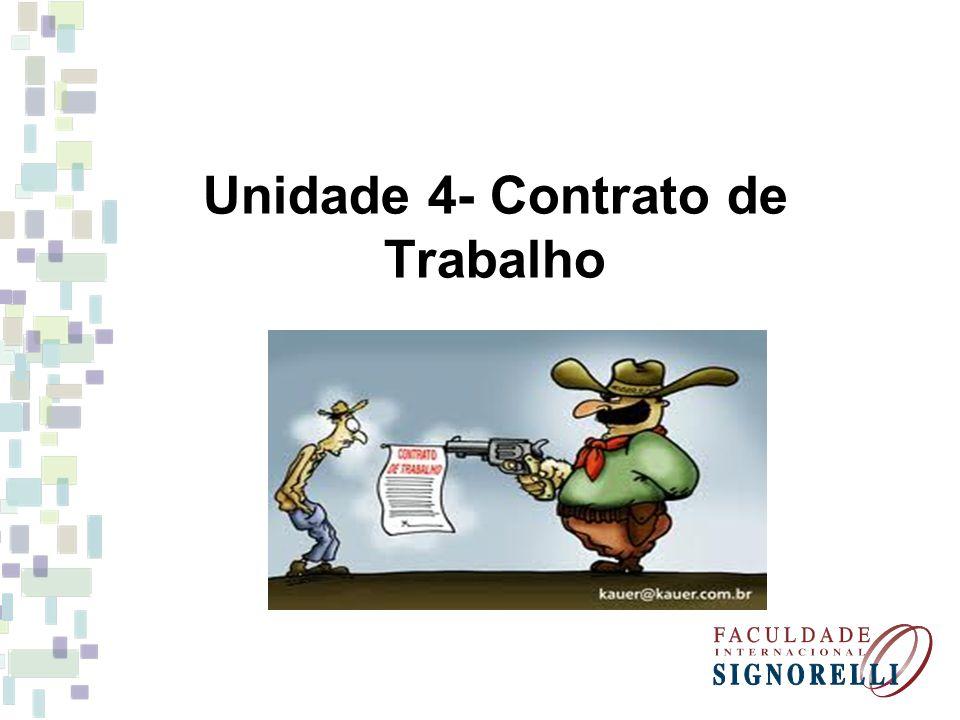 Unidade 4- Contrato de Trabalho