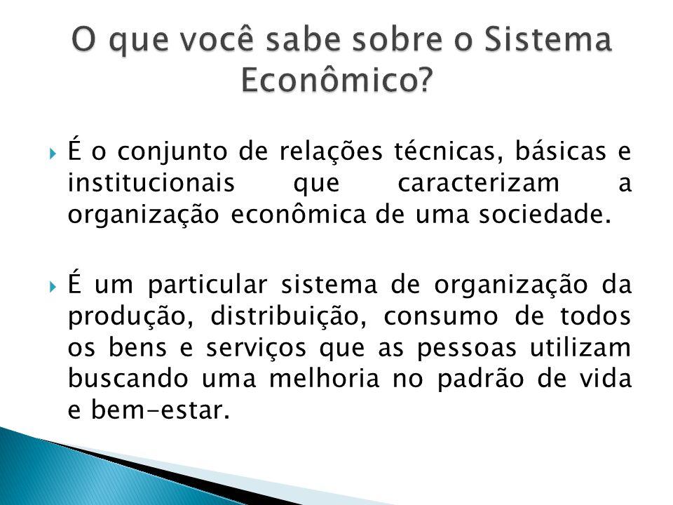 É o conjunto de relações técnicas, básicas e institucionais que caracterizam a organização econômica de uma sociedade. É um particular sistema de orga