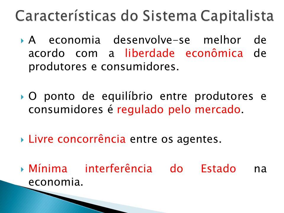 A economia desenvolve-se melhor de acordo com a liberdade econômica de produtores e consumidores. O ponto de equilíbrio entre produtores e consumidore